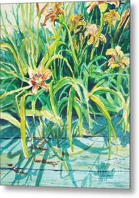 Metal Print featuring the painting August Shadows by Joy Nichols