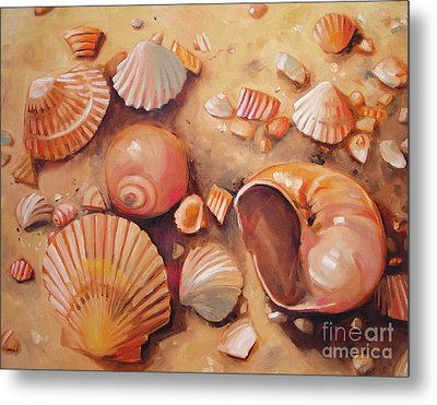 August Shells Metal Print by Mary Hubley