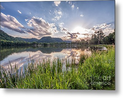 Metal Print featuring the photograph August Sunset by Kari Yearous