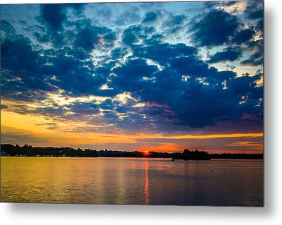 August Sunset Over Lake Nagawicka Metal Print