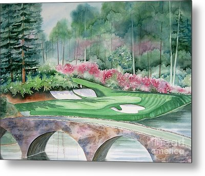 Augusta National 12th Hole Metal Print by Deborah Ronglien