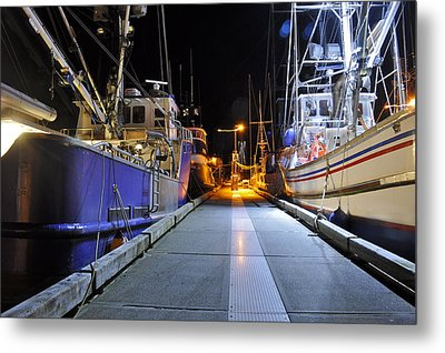 Metal Print featuring the photograph Auke Bay By Night by Cathy Mahnke