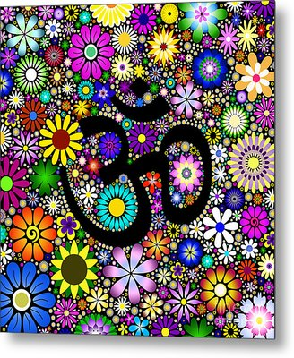 Aum Flowers Metal Print by Tim Gainey