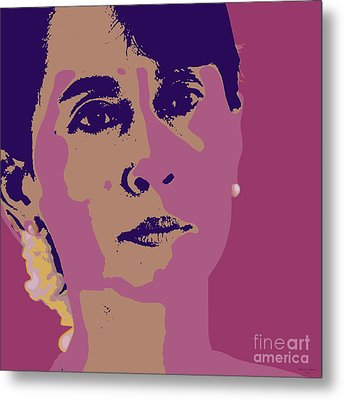 Aung San Suu Kyi Metal Print by Jean luc Comperat