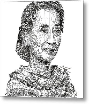 Aung San Suu Kyi Metal Print by Michael Volpicelli