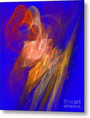 Aurora Blue Metal Print