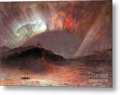 Aurora Borealis By Frederick Edwin Church Metal Print