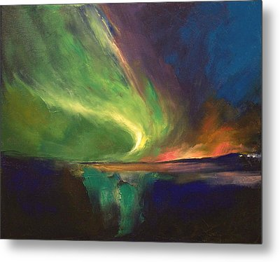 Aurora Borealis Metal Print by Michael Creese