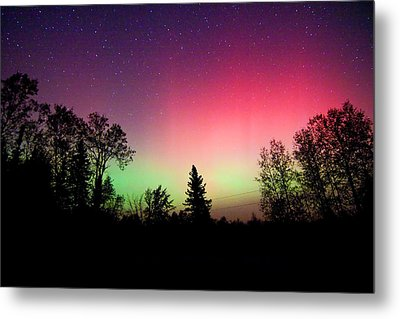 Aurora In Autumn Metal Print