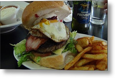 Metal Print featuring the photograph Aussi Burger by Tony Mathews