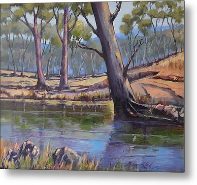 Metal Print featuring the painting Aussie Billabong by Murray McLeod