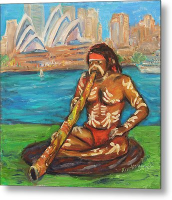 Metal Print featuring the painting Aussie Dream I by Xueling Zou