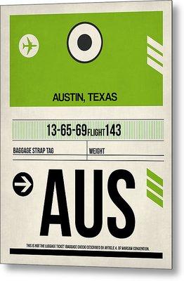 Austin Airport Poster 1 Metal Print by Naxart Studio