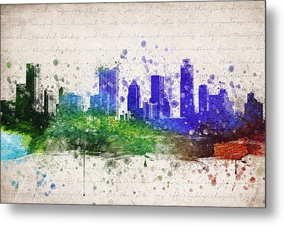 Austin In Color Metal Print by Aged Pixel