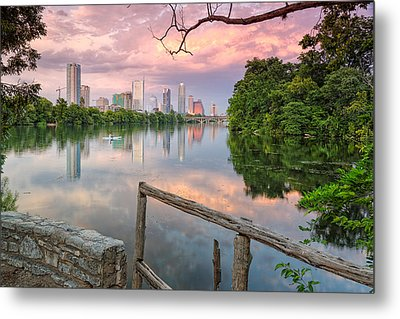 Austin Skyline From Lou Neff Point Metal Print