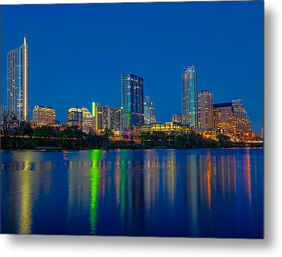 Metal Print featuring the photograph Austin Skyline by Tim Stanley