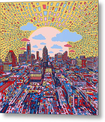 Austin Texas Abstract Panorama 2 Metal Print