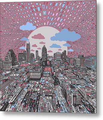 Austin Texas Abstract Panorama 3 Metal Print