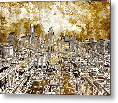 Austin Texas Abstract Panorama 6 Metal Print by Bekim Art