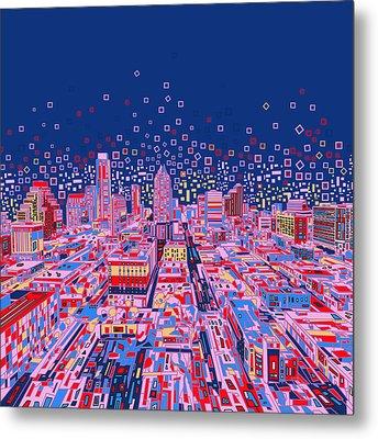 Austin Texas Abstract Panorama Metal Print