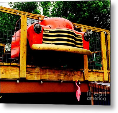Austin Texas - Maria's Taco Express - Luther Fine Art Metal Print by Luther Fine Art