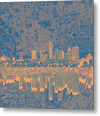 Austin Texas Skyline 2 Metal Print