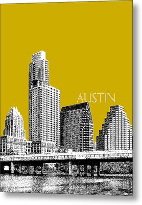 Austin Texas Skyline - Gold Metal Print by DB Artist