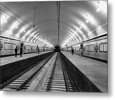 Australia Subway Station Metal Print by Underwood Archives