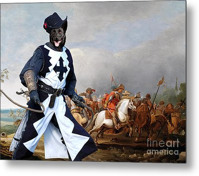 Australian Kelpie Canvas Print - A Cavalry Engagement During The Thirty Years War Metal Print