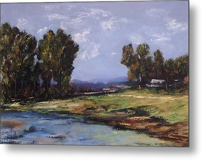Australian Landscape By The Water  Metal Print by Renate Voigt