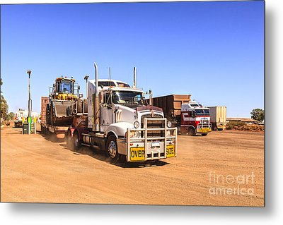 Australian Outback Truck Stop Metal Print by Colin and Linda McKie
