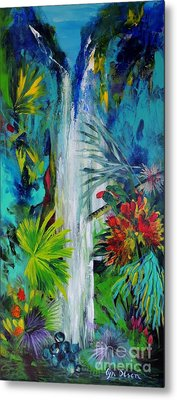 Metal Print featuring the painting Australian Rainforest by Lyn Olsen