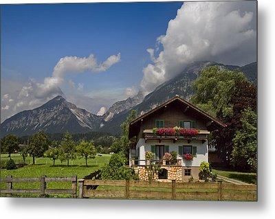 Austrian Cottage Metal Print by Debra and Dave Vanderlaan