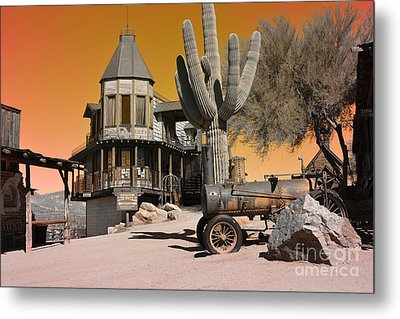 Authentic Ghost Town Metal Print by Beverly Guilliams