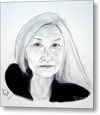 Author And Activist Maxine Hong Kingston Metal Print by Jim Fitzpatrick
