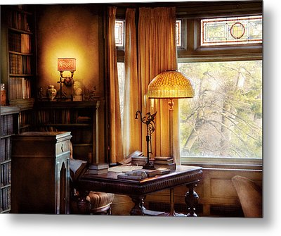 Author -  Style And Class Metal Print by Mike Savad