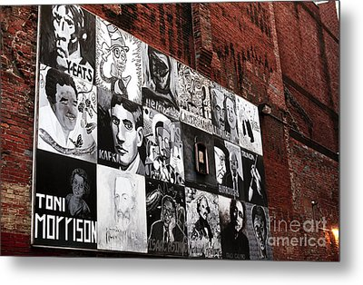 Authors In Boston Metal Print by John Rizzuto