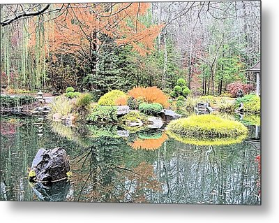 Autumn Lakeside Metal Print