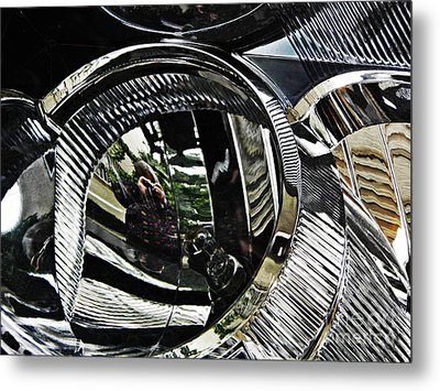 Auto Headlight 133 Metal Print by Sarah Loft