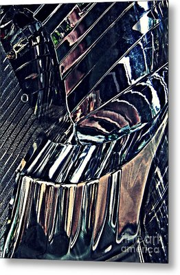Auto Headlight 28 Metal Print by Sarah Loft
