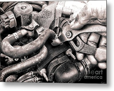 Auto Repair Metal Print by Olivier Le Queinec