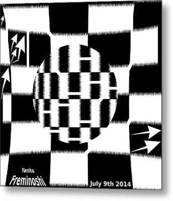Autofocus Maze Metal Print
