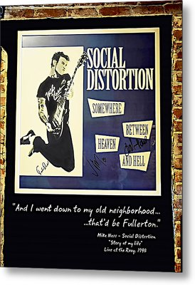 Autographed Poster Of Rock Legend Mike Ness  Metal Print