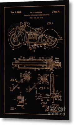 Automate Motorcycle Stand Retractor Blk Brown Metal Print