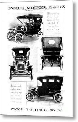 Automobile Advertisement Metal Print by Granger