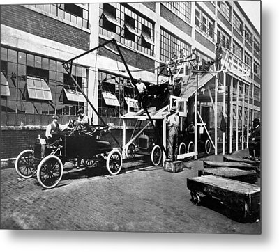 Automobile Assembly Line Metal Print by Underwood Archives