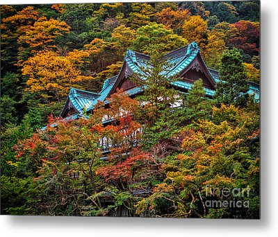 Metal Print featuring the photograph Autum In Japan by John Swartz