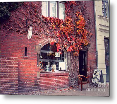 Metal Print featuring the photograph Autumal Facade With Ivy Autumn by Art Photography