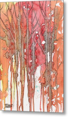 Metal Print featuring the painting Autumn Abstract No.1 by Rebecca Davis