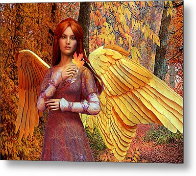 Autumn Angel 2 Metal Print